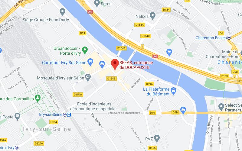 Sefas à Ivry en France